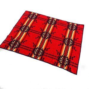 90s Vintage Pendleton Aztec Pattern Wool Blanket